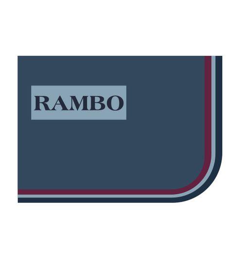 Rambo Optimo Stable Sheet - Navy/ Burgundy/Dusty Blue/Navy