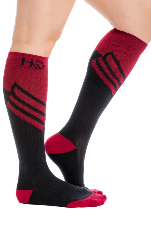 Horseware Sports Compression Socks - Navy/Spiced Berry