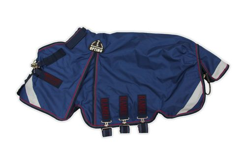 Rambo Optimo Turnout Outer Only - Navy/Burgundy/Teal/Navy