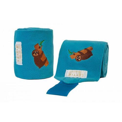 Lettia Embroidered Polo Wraps - Blue/Sloth