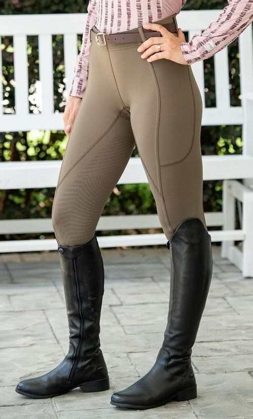 FITS Women's TechTread 2 Pocket Full Seat Pull On Breeches - Olive