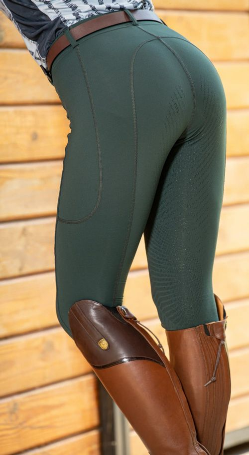 FITS Women's TechTread 2 Pocket Full Seat Pull On Breeches - Spruce