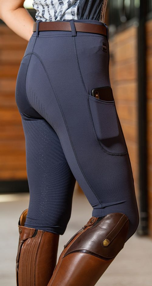 FITS Women's TechTread 2 Pocket Full Seat Pull On Breeches - Ink