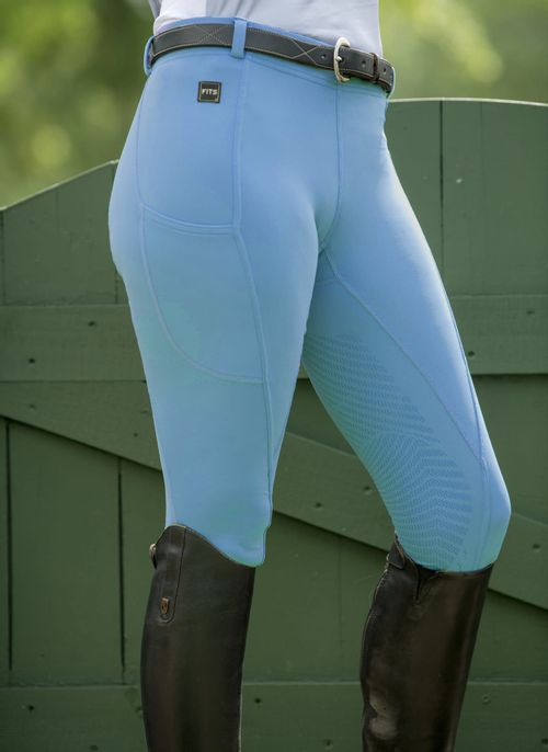 FITS Women's TechTread 2 Pocket Full Seat Pull On Breeches - Storm