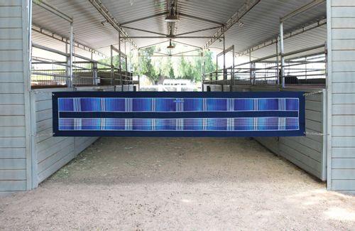 Kensington Aisle Guard w/Chain Sides - Kentucky Blue