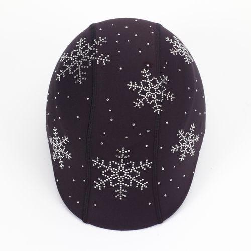 Helmetra Helmetra Designer Helmet Cover - Snowflakes