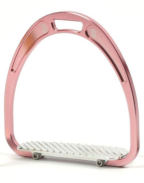 Tech Stirrups Rome Jockey Racing Irons - Pink