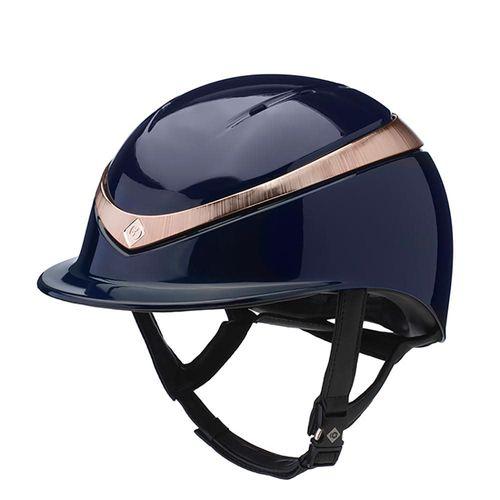 Charles Owen Halo Helmet - Navy/Rose Gold Gloss