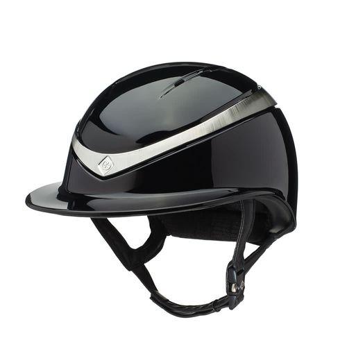 Charles Owen Halo Luxe Helmet - Black/Platinum Gloss