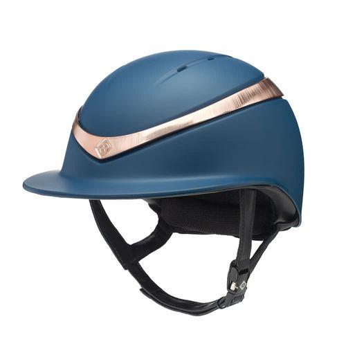 Charles Owen Halo Luxe Helmet - Navy/Rose Gold
