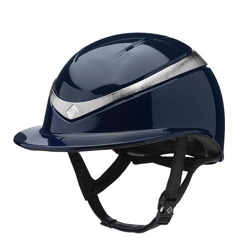 Charles Owen Halo Luxe Helmet - Navy/Platinum Gloss