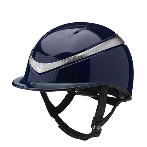 Charles Owen Halo Helmet - Navy/Platinum Gloss