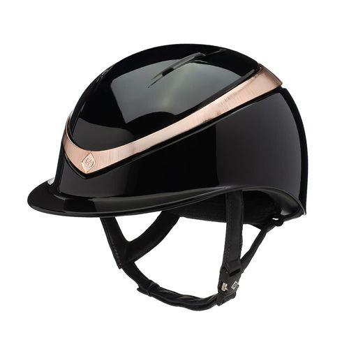 Charles Owen Halo Helmet - Black/Rose Gold Gloss