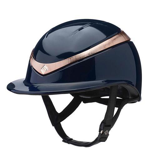 Charles Owen Halo Luxe Helmet - Navy/Rose Gold Gloss