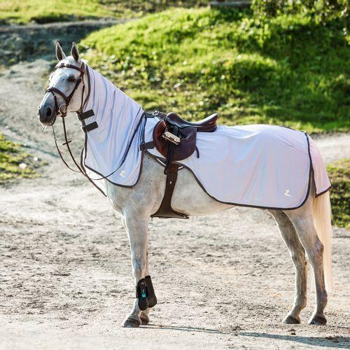 Horze Eira Fly Riding Sheet w/Detachable Neck - Gray