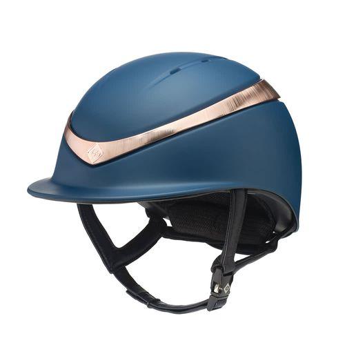 Charles Owen Halo Helmet - Navy/Rose Gold