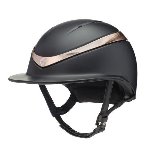 Charles Owen Halo Luxe Helmet - Black/Rose Gold
