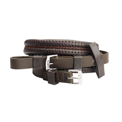 Wintec Equi-Leather Grip Reins - Brown
