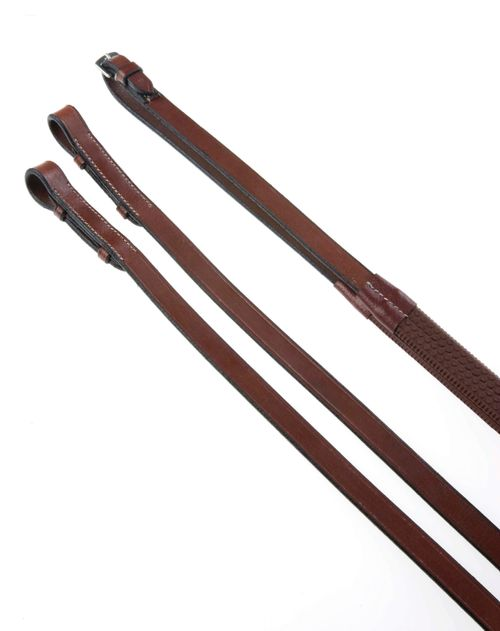 Kincade Rubber Covered Reins - Brown