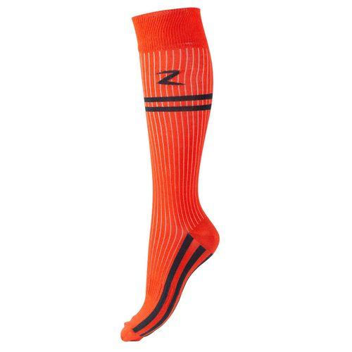 Horze Superstretch Stripe Riding Knee Socks - Fiery Red/Black