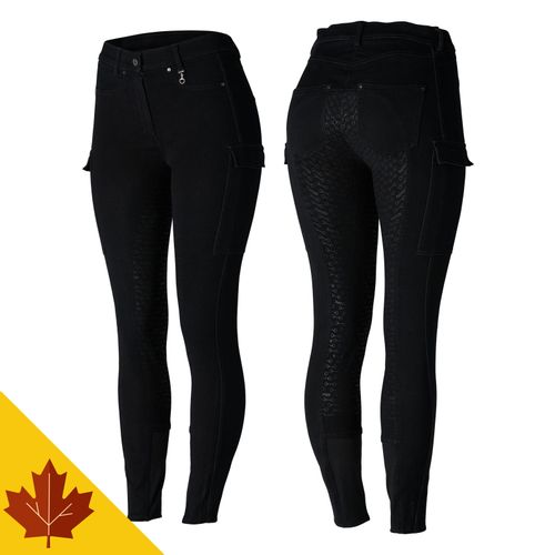 Horze Women's Limited Edition Ivy Full Seat Cargo Breeches - Black