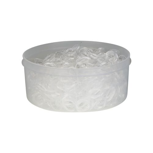 Horze 500 Piece Braiding Bands - Clear