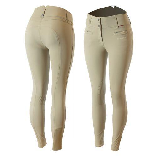 B Vertigo Women's Tiffany Silicone Knee Patch Breeches - Plaza Taupe Light Brown
