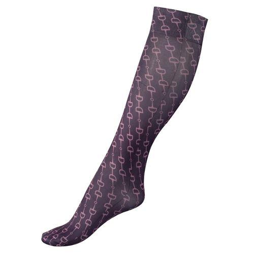 Horze Kids' Amira Thin Printed Socks - Grapeade Purple/Grape Juice Purple