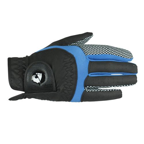 Finntack Norte Synthetic Leather Gloves - Black/Blue