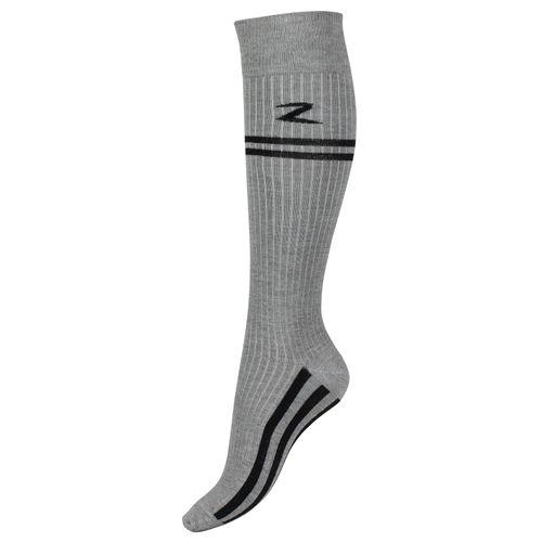Horze Superstretch Stripe Riding Knee Socks - Melange Gray/Black