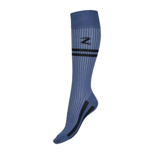 Horze Superstretch Stripe Riding Knee Socks - Marlin Blue/Black