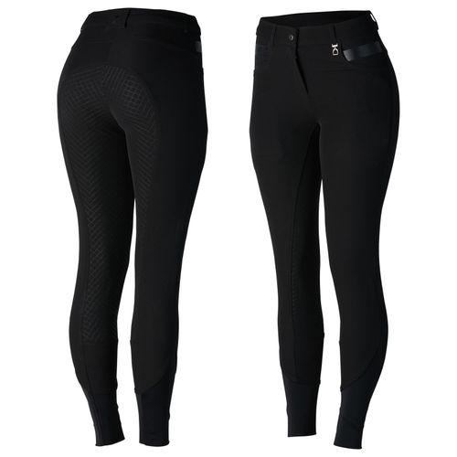 Horze Women's Sadie Silicone Full Seat Breeches - Black