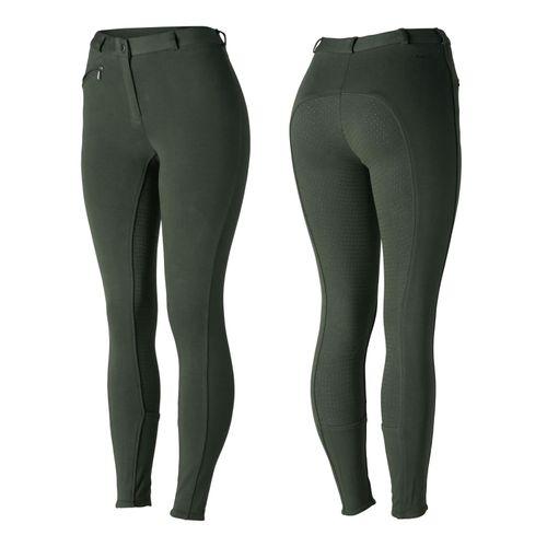Horze Women's Active Full Seat Breeches - Thyme Green