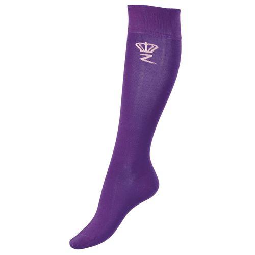 Horze Kids' Bamboo Knee Socks - Gaudy Purple