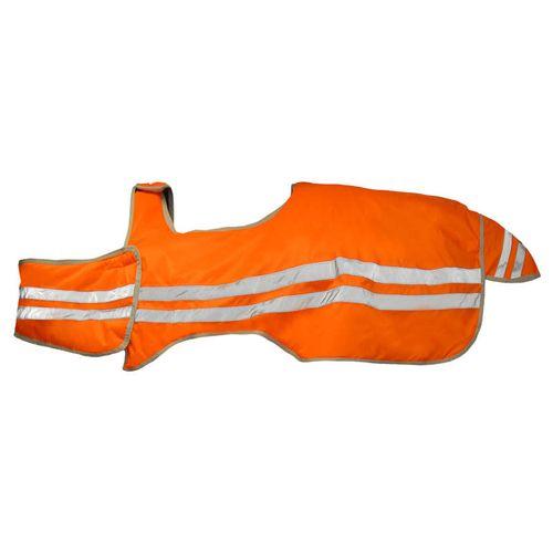Horze Reflective Wrap Riding Sheet - Orange