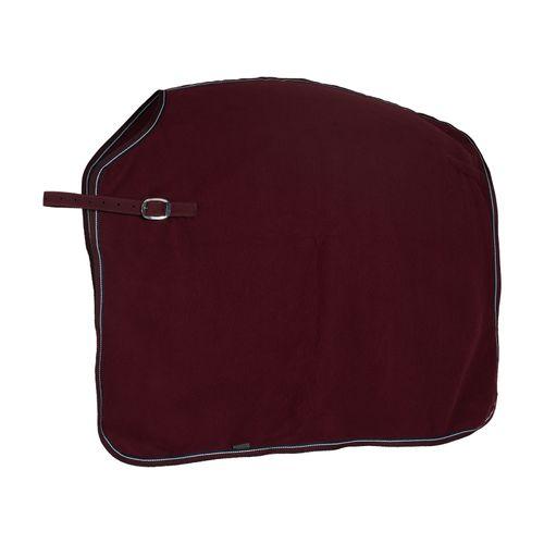 Horze Kiel Fleece Quarter Sheet - Dark Red