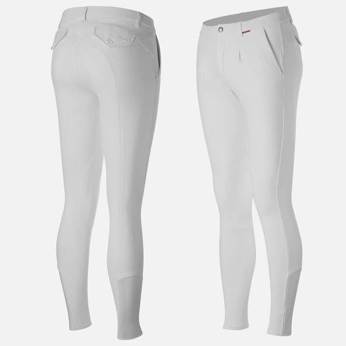 B Vertigo Men's Sanders Knee Patch Breeches - Bright White