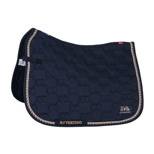 B Vertigo Monaco Dressage Saddle Pad - Dark Navy