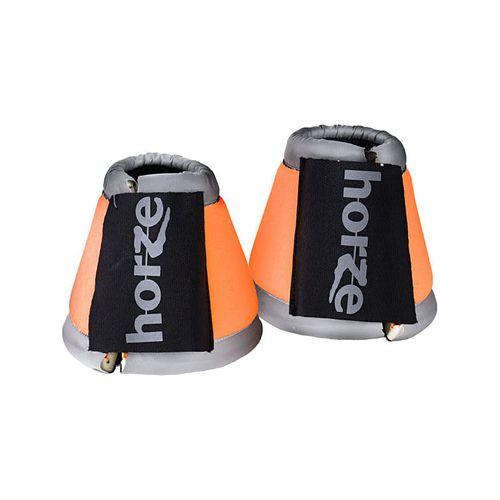 Horze Reflective Bell Boots - Orange