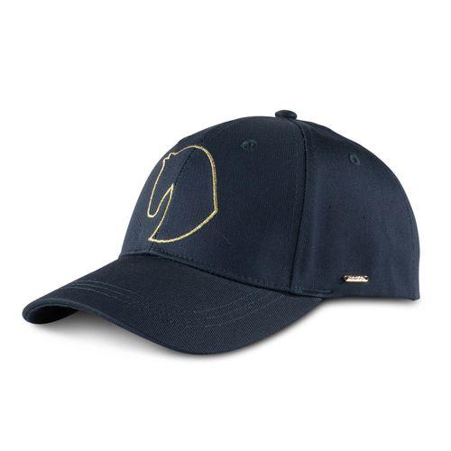 Horze Gold Detail Hat - Navy Dark Blue