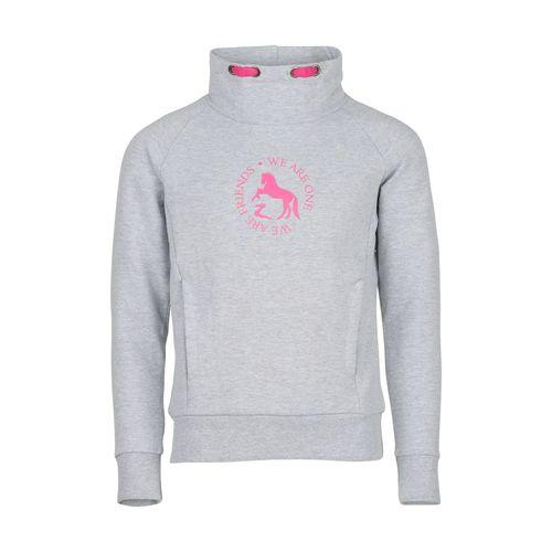Horze Kids' Elinor Turtle Neck Sweatshirt - Ash Gray