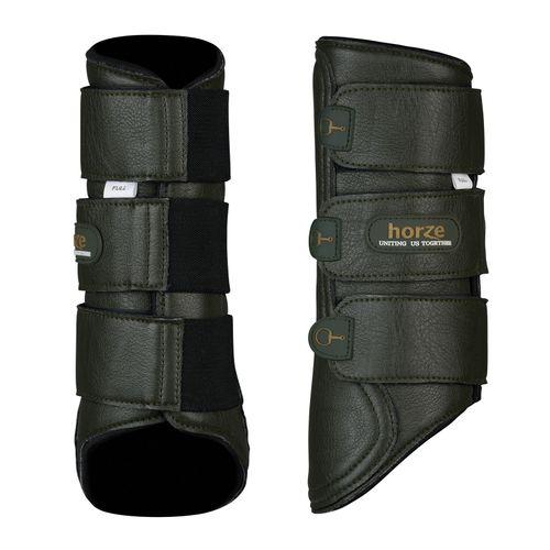 Horze Montauk Brushing Boots - Beetle Khaki Green