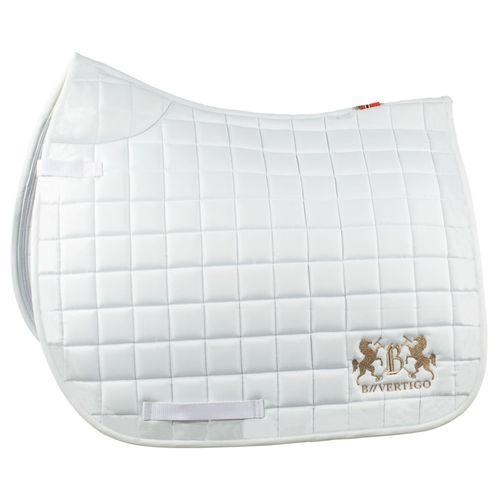 B Vertigo Rochelle Dressage Saddle Pad - White