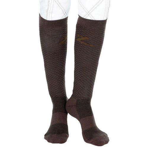 Horze Jacquard Knee Socks - Turkish Coffee Brown