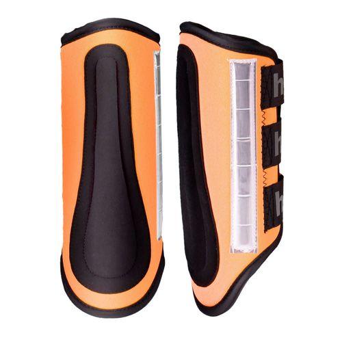 Horze Reflective Boots - Orange