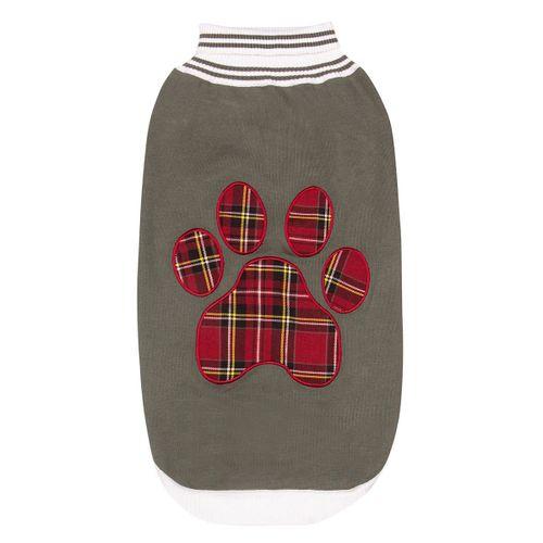 Halo Plaid Paw Dog Sweater - Duck Green