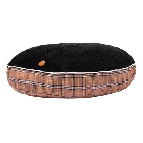 Halo Classic Plaid Round Dog Bed - Tan Plaid