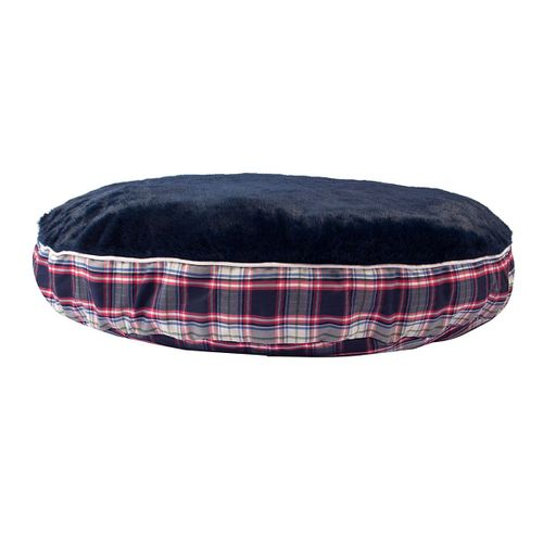 Halo Amber Plaid Round Dog Bed - Amber Plaid