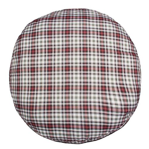 Halo Plaid Round Dog Bed - Duck Green Plaid