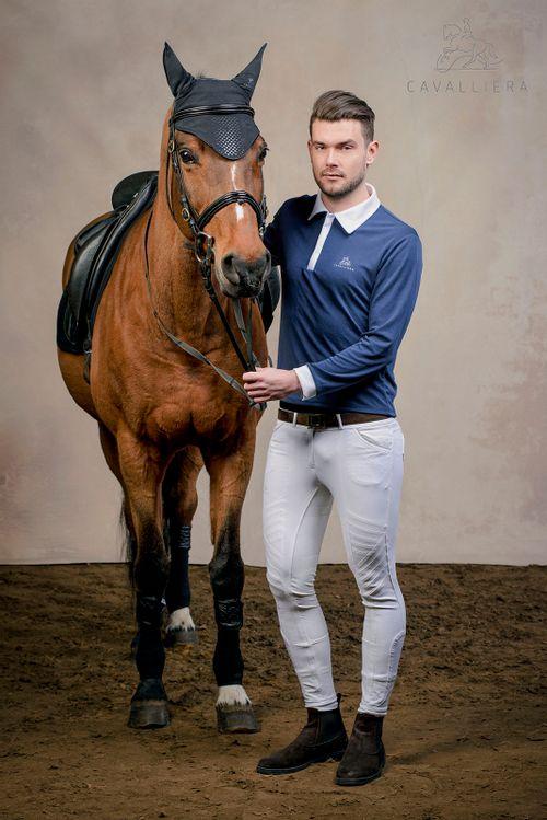 Cavalliera Men's Gentleman Long Sleeve Show Shirt - Pigeon Blue